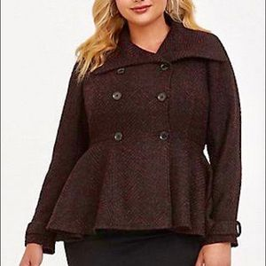 90a57bd2119 torrid Jackets   Coats - Torrid Burgundy Marled Fit   Flare coat pinup